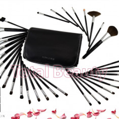 Trusa 34 pensule machiaj profesionale Fraulein38 Black Master Collection - Pensula make-up