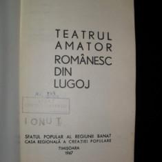 TEATRUL AMATOR ROMANESC DIN LUGOJ, Ion Crisan - Carte traditii populare