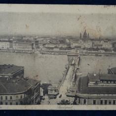 Budapesta Latkep Totalansicht - vedere din 1918 - circulata - cod V-127