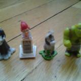 Colectie set lot 4 figurine Surprize Kinder Shrek Esel Wolf serie anii 2000 cu accesorii complete - Surpriza Kinder
