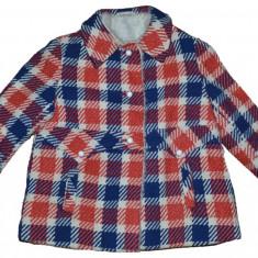 Palton stofa imblanit de fete firma Bico Teddy marimea 116 cm pentru 5-6 ani