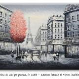 Tablou gigant - Paris in alb si negru (2) - 120x90cm, livrare gratuita 24-48h, Peisaje, Ulei, Altul
