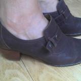 Pantofi din piele firma marimea 38, 5, aproape noi! - Pantofi dama, Marime: 39, Negru