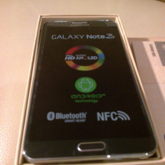 Telefon mobil Samsung Galaxy Note 3, Negru, 64GB, Neblocat, >2000 MHz, 2G & 3G & 4G - Note 3 nou liber de retea