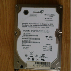 HDD -DEFECT- 2.5'' IDE PATA laptop notebook hard disc 80GB 8MB cache Seagate Momentus ST9808211A 5400.2 5400rpm - HDD laptop Seagate, 41-80 GB