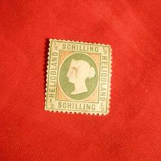 Timbru 1 Shilling Heligoland 1869 ,nestamp.,fara guma