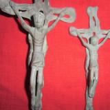 2 crucifixurii  din bronz masiv foarte vechi 30x13 cm si 20x9 cm