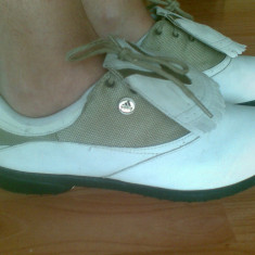 Pantofi din piele firma Adidas marimea 39, aproape noi! - Adidasi dama, Culoare: Alb, Gri
