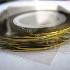Banda aurie benzi aurii autoadeziv pentru decorare unghii aur - Unghii modele