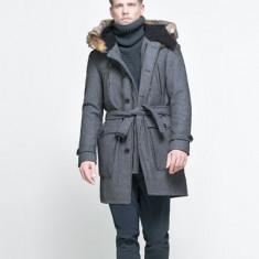 Palton barbati Zara, XL, Lana - Palton ZARA Original!