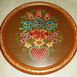 Decoratiune bucatarie / suport oala - lemn pictat manual - Germania - marcat