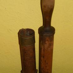Metal/Fonta - ȘPRIȚ PT. ORNAT TORTURI ȘI PRĂJITURI, LEMN, ALAMĂ & TABLĂ OȚELITĂ, VECHI - 1890!