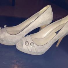 Pantofi ZARA - Pantof dama Zara, Marime: 38, Culoare: Bej, Bej