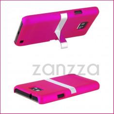 2 X Husa roz Samsung Galaxy S2 i9100 + Folie protectie ecran GRATIS - Husa Telefon Samsung, Gel TPU, Fara snur