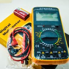 Multimetre - APARAT DE MASURA universal digital (MULTIMETRU, AMPERMETRU, VOLTMETRU). Carcasa Antisoc. Ecran Digital. + Cadou BATERIA