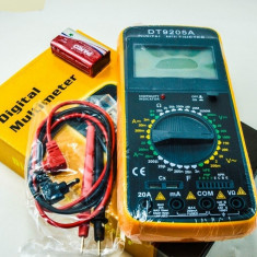 Multimetre - APARAT DE MASURA digital (MULTIMETRU, AMPERMETRU, VOLTMETRU). Carcasa Antisoc.