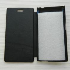 Husa ACER LIQUID Z5, Tip Book, Negru, SuperSlim - Husa Telefon Acer, Piele Ecologica, Cu clapeta