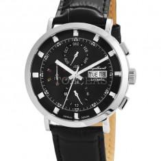 Ceas de lux Engelhardt Edgar Steel Black, original, nou, cu factura si garantie! - Ceas barbatesc Engelhardt, Mecanic-Automatic