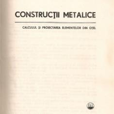 Dan Mateescu / Ioan Caraba - Constructii metalice - 1980 - Carti Constructii