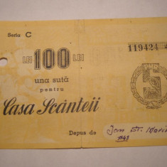 Casa Scanteii Valoare 100 lei Seria C - Cambie si Cec