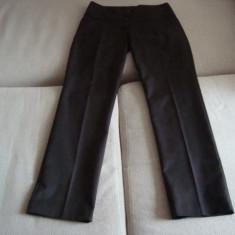 Pantaloni dama Nissa SUUUPERBI, Marime: 44, Culoare: Nero, Lungi, Satin