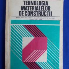 Carti Constructii - GABRIELA POPESCU - TEHNOLOGIA MATERIALELOR DE CONSTRUCTII * MANUAL PENTRU CLASELE A IX-A SI A X-A, PROFIL MATERIALE DE CONSTRUCTII - 1978