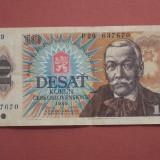 Bancnota Straine, Europa - Cehoslovacia 10 Korun 1986