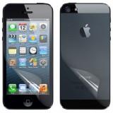 Folie iPhone 5 5S fata spate transparenta by NEWTOP