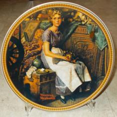Farfurie - decorativa / de colectie - portelan USA - Knowles - 1985 - Arta din America