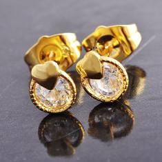 Set bijuterii placate cu aur - CERCEI 15*8mm aur filat galben