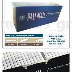 Foite tigari - 1.000 tuburi Pall Mall Multifiltru cu Carbon Tuburi de tigari pentru tutun
