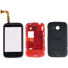 Carcasa rama fata touchscreen touch screen digitizer geam mijloc capac spate capac baterie capac acumulator HTC Desire C, Golf, A320E, G26 Originala
