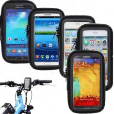 Suport telefon bicicleta - Suport bicicleta motocicleta impermeabil Waterproof Samsung Galaxy S2 i9100 + incarcator auto + folie protectie ecran + expediere gratuita