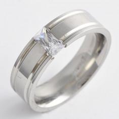 Inel placate cu aur, 46 - 56 - Inel superb Stainless Steel cristale zirconiu Marime 9(US) cod GD708