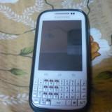 Samsung Galaxy Chat (Aproape Nou + Husa Albastra, Incarcator Samsung, Cablu USB) - Telefon Samsung, Alb, 2GB, Neblocat, Single core, 512 MB