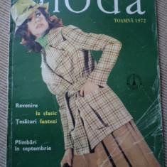 Revista moda toamna 1972 hobby modele ilustrata color