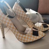 Pantofi cu toc Guban - Pantofi dama, Marime: 40, Culoare: Multicolor, Multicolor