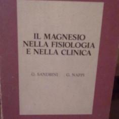 G. Sandrini si G. Nappi - Il magnesio nella fisiologia e nella clinica - Carte Literatura Spaniola