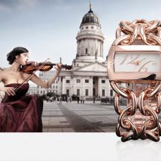 Ceas dama Guess ALIAS KIM (SUA) by FOSSIL auriu roz gold lux elegant, quartz, pret site 125 $+cutie cadou+card garantie-ideal Martisor onomastica aniversare, Casual, Inox, Analog