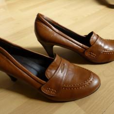 Pantofi dama - Pantofi Bonprix Collection, piele, cusuti manual; marime 41 (26.6 cm talpic)