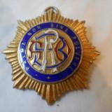 Veche Medalie Masonica 1949 Loja Anglia cu Email si din Argint aurit Marcaj
