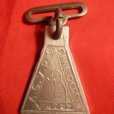 Medalion Caini, aluminiu, h= 4, 5 cm