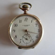Ceas de buzunar - CEAS ELVETIAN DE BUZUNAR ANTIC DIN ARGINT MECANIC - REVUE THOMMEN SA