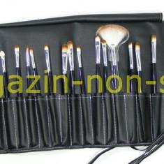 Pensula make-up - Trusa Set profesional 24 Pensule Machiaj Fard Pudra Rimel Sprancene Pensula