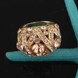 Promotie! Inel placat cu aur 14k cristale Swarovski, marime 9(US) - Inel Swarovski, 46 - 56