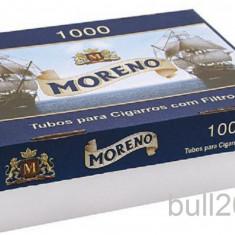 Foite tigari - Tuburi tigari MORENO 1000 tuburi pentru injectat tutun, tigari / filtre tigari