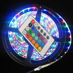 Banda LED 3528 multicolora RGB telecomanda 24 taste 60 LED/m 5 metri