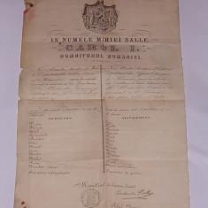PASAPORT DIN VREMEA LUI CAROL I- 1869-