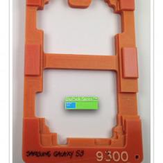 Suport fixare display telefon mobil smartphone Samsung Galaxy S3 9300 pentru fixare aplicare adeziv service Garantia de Livrare textolid - Reparatie telefon