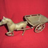 Cal cu sareta din bronz masiv 29x14 cm NR2